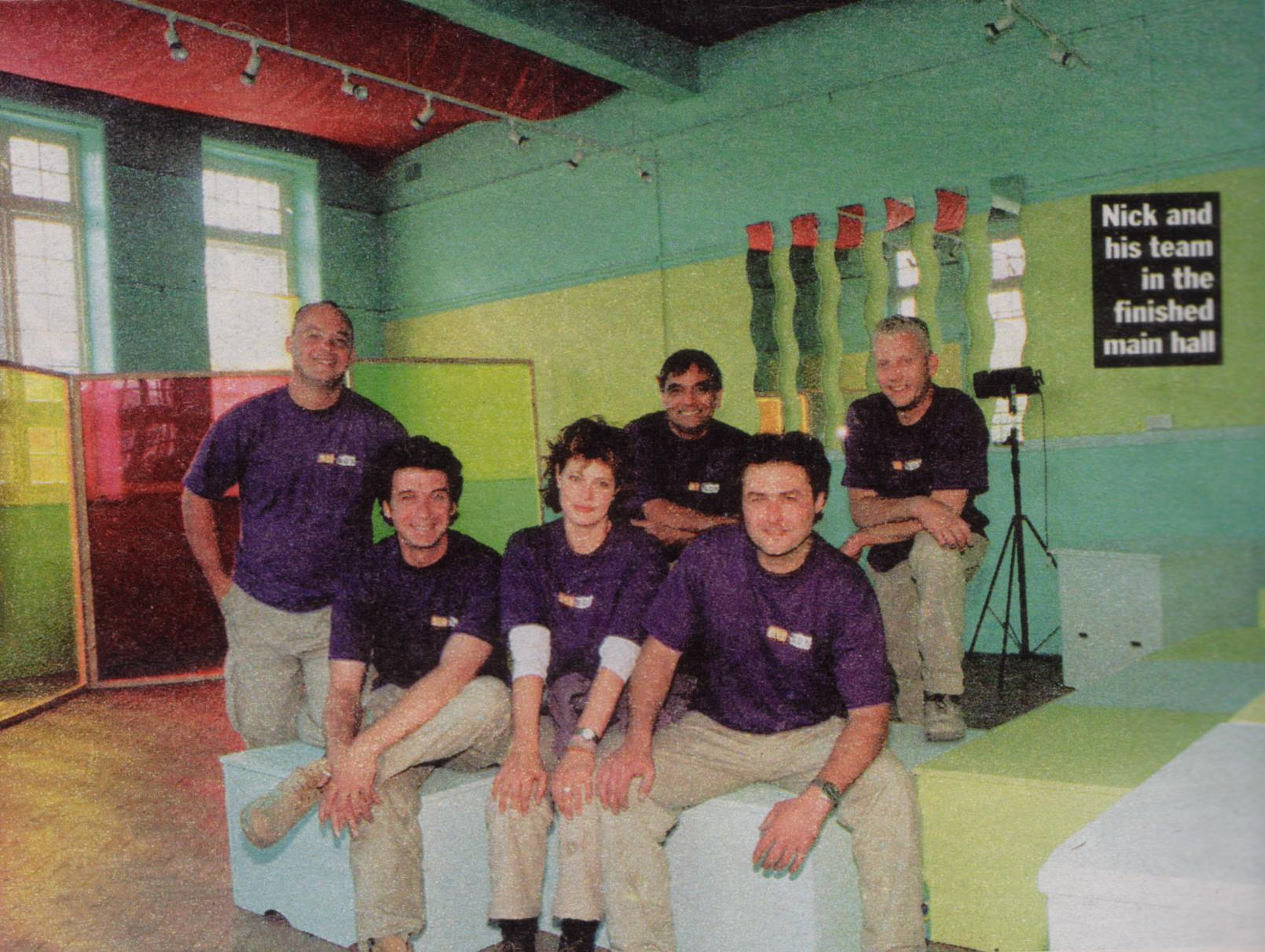 The DIYSOS Team in the finished rehearsal room
